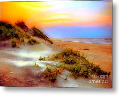 Outer Banks Soft Dune Sunrise Ap Metal Print