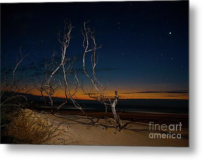 Metal Print featuring the photograph Outer Banks Sunrise With Venus And Scorpio by Dan Carmichael
