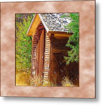Metal Print featuring the photograph Outhouse 1 by Susan Kinney