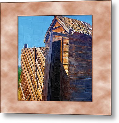 Metal Print featuring the photograph Outhouse 2 by Susan Kinney