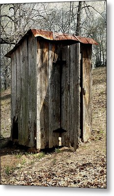 Outhouse Metal Print by Gayle Johnson