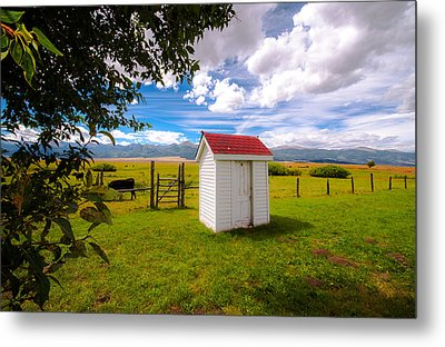 Outhouse Metal Print by Tim Reaves
