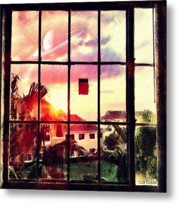 Outside My Window... Metal Print