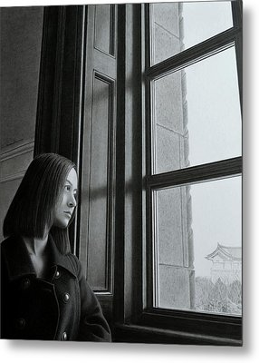 Outside Of The Window, Inside Of The Mind Metal Print by Hirokazu Tomimasu