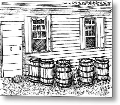 Outside The Smithie Metal Print by Dawn Boyer