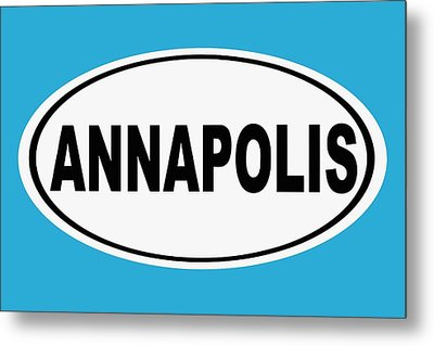 Metal Print featuring the photograph Oval Annapolis Maryland Home Pride by Keith Webber Jr