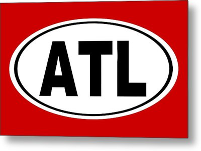 Metal Print featuring the photograph Oval Atl Atlanta Georgia Home Pride by Keith Webber Jr