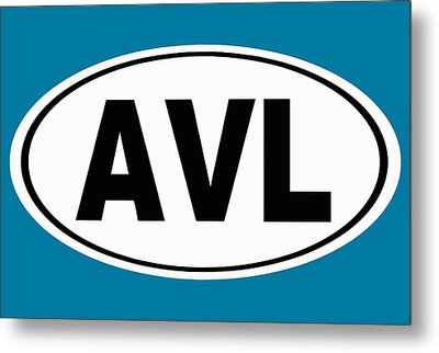Metal Print featuring the photograph Oval Avl Asheville North Carolina Home Pride by Keith Webber Jr