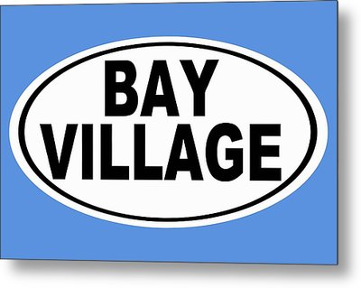 Metal Print featuring the photograph Oval Bay Village Ohio Home Pride by Keith Webber Jr