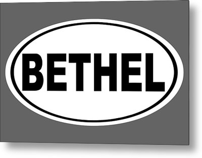 Metal Print featuring the photograph Oval Bethel Connecticut Home Prid by Keith Webber Jr