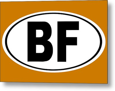 Metal Print featuring the photograph Oval Bf Beaver Falls Pennsylvania Home Pride by Keith Webber Jr