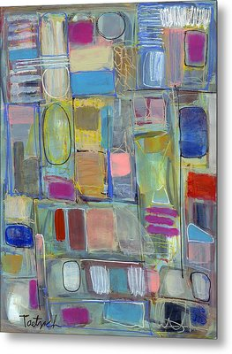 Oval Block Metal Print by Lynne Taetzsch