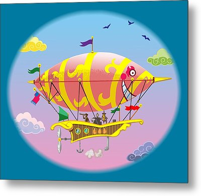 Dreamship II Metal Print by J L Meadows