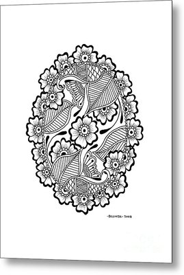 Oval Lace Metal Print