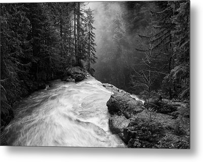 Over The Falls Metal Print by James K. Papp