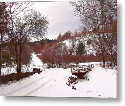 Over The River Metal Print by Betsy Zimmerli