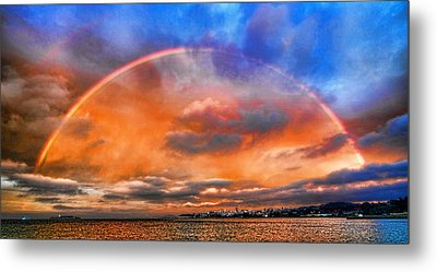 Metal Print featuring the photograph Over The Top Rainbow by Steve Siri