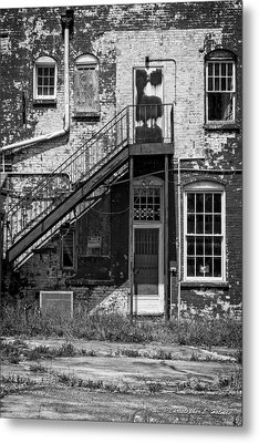 Over Under The Stairs - Bw Metal Print by Christopher Holmes
