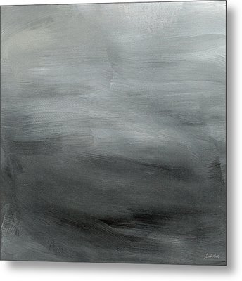 Overcast Morning- Abstract Art By Linda Woods Metal Print by Linda Woods