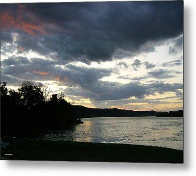 Metal Print featuring the photograph Overcast Morning Along The River by Skyler Tipton