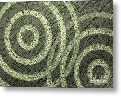 Overlapping Concentric Concrete Circles Metal Print by Inga Spence