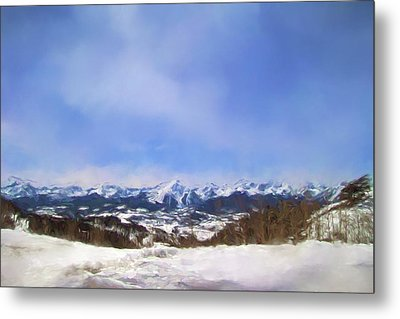 Overlooking The Mountains Of Colorado Landscape Art By Jai Johnson Metal Print