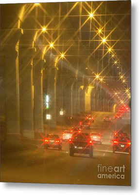 Metal Print featuring the photograph Overpass Traffic by Linda Phelps