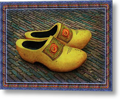 Metal Print featuring the photograph Oversized Dutch Clogs by Hanny Heim