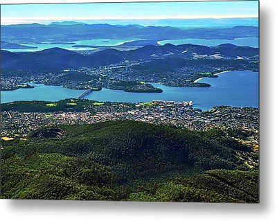 Overview Of Hobart Tasmania Metal Print