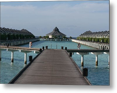Overwater Bungalows Metal Print by Andrei Fried