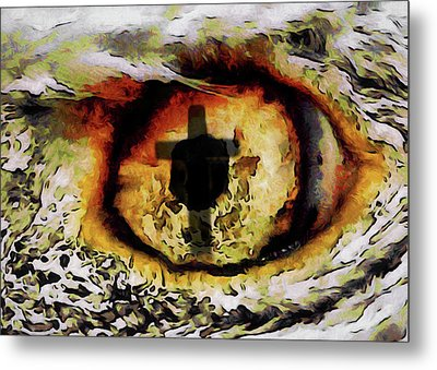 Metal Print featuring the digital art Overwhelmed Remember Him by Ernie Echols