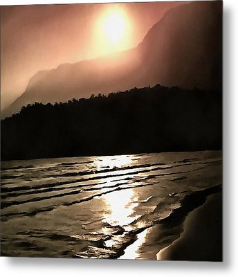 Overwhelming Waves Of Sadness Metal Print by Tracey Harrington-Simpson