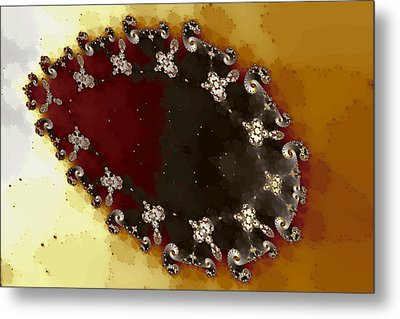 Ovoid Cluster Metal Print by Mark Eggleston