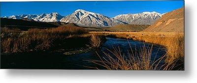 Owens River Valley Bishop Ca Metal Print by Panoramic Images