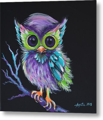 Owl Be Your Friend Metal Print by Agata Lindquist