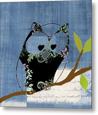 Owl Design - J140149146-v136bb Metal Print