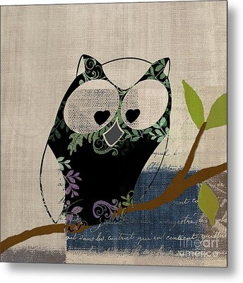 Owl Design - J140149146-v19 Metal Print by Variance Collections