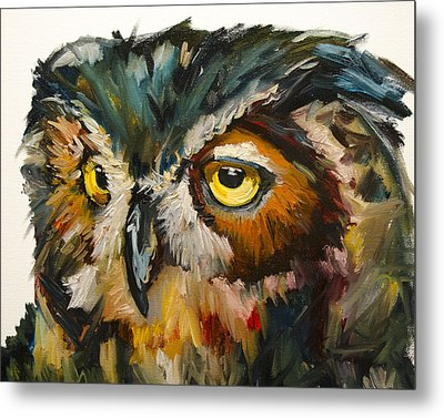 Owl Eye Metal Print