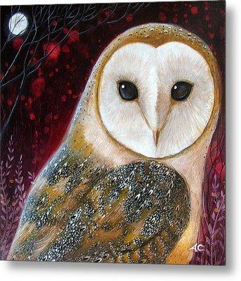 Owl Power Animal Metal Print by Amanda Clark