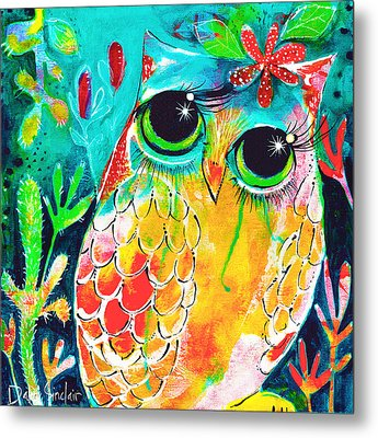 Owlette Metal Print by DAKRI Sinclair