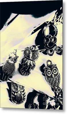 Owls From Blue Yonder Metal Print by Jorgo Photography - Wall Art Gallery