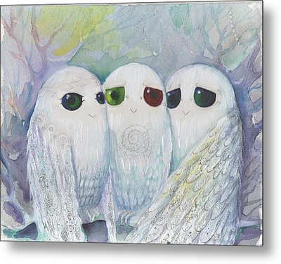Owls From Dream Metal Print