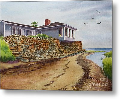 Riverhouse Metal Print