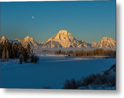 Oxbow Bend In Late Winter Metal Print by Yeates Photography