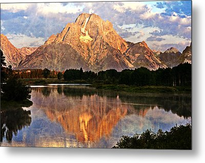 Oxbow Bend Metal Print by Marty Koch