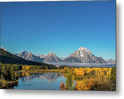Oxbow Bend Metal Print by Mary Hone