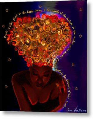 Metal Print featuring the digital art Oya by Iowan Stone-Flowers