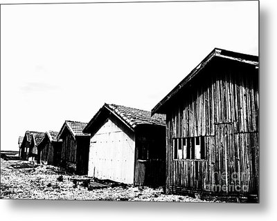 Oyster Breeding Sheds At Laramos Port On Bassin D'arcachon Metal Print by Sami Sarkis
