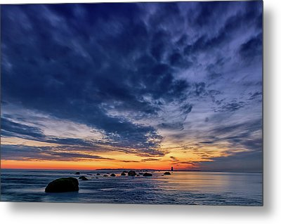 Oyster Pond Reef At Orient Point Metal Print
