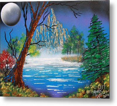 Metal Print featuring the painting OZ by Greg Moores